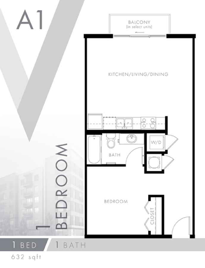 1 Bedroom 1 Bathroom Apartment for rent at The Venue At The Ballpark in Birmingham, AL