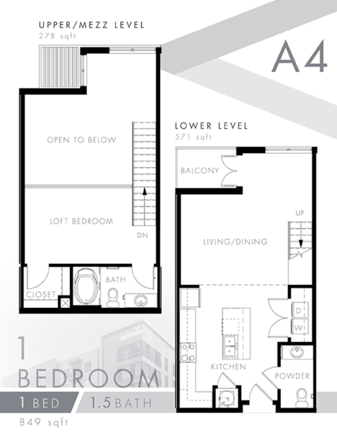 1 Bedroom 2 Bathrooms Apartment for rent at The Venue At The Ballpark in Birmingham, AL