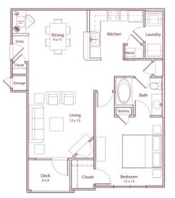 1 Bedroom 1 Bathroom Apartment for rent at Stonegate in Birmingham, AL