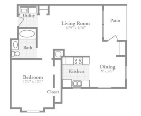1 Bedroom 1 Bathroom Apartment for rent at Crowne On Tenth in Birmingham, AL