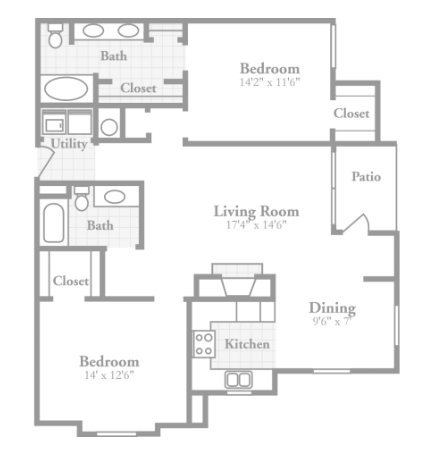 2 Bedrooms 2 Bathrooms Apartment for rent at Crowne On Tenth in Birmingham, AL