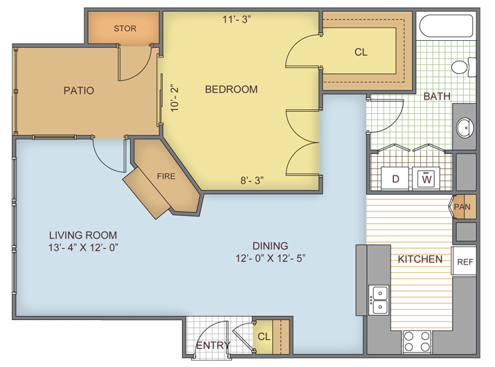 1 Bedroom 1 Bathroom Apartment for rent at Eagle Ridge in Birmingham, AL