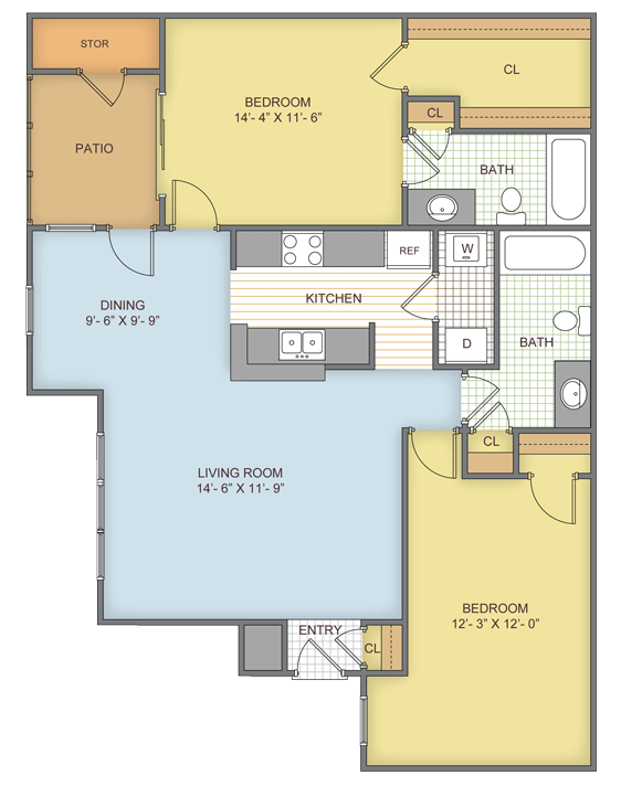 2 Bedrooms 2 Bathrooms Apartment for rent at Eagle Ridge in Birmingham, AL