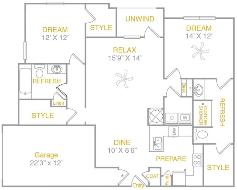 2 Bedrooms 2 Bathrooms Apartment for rent at Arium Lakeshore in Birmingham, AL