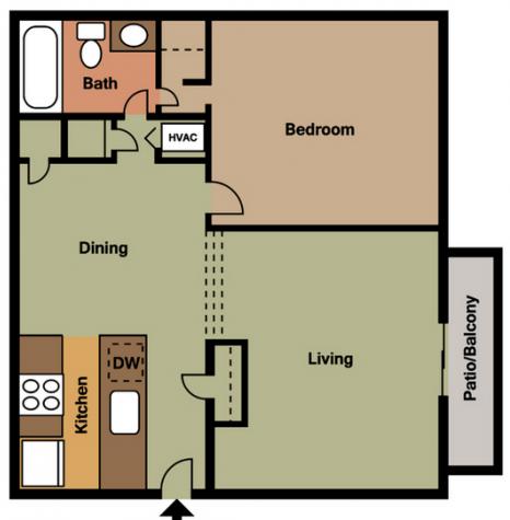 1 Bedroom 1 Bathroom Apartment for rent at Vida On Valley in Birmingham, AL