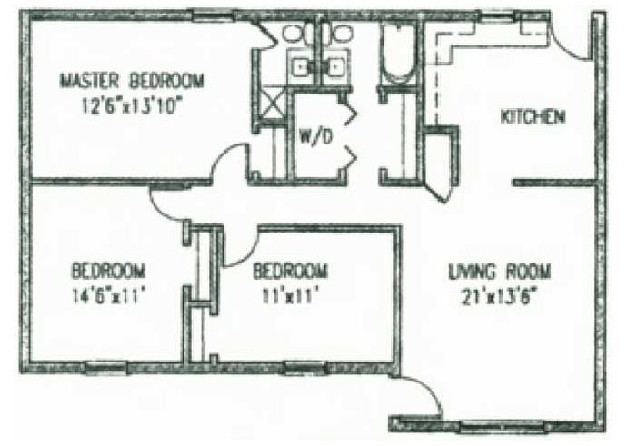 3 Bedrooms 2 Bathrooms Apartment for rent at Pointe Apartments in Birmingham, AL