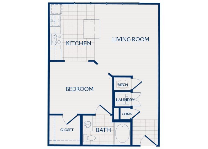 Studio 1 Bathroom Apartment for rent at Parc At Grandview in Birmingham, AL