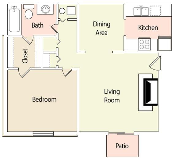 1 Bedroom 1 Bathroom Apartment for rent at Verandsa At Rocky Ridge in Birmingham, AL