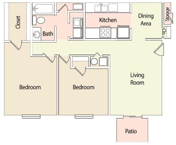 2 Bedrooms 1 Bathroom Apartment for rent at Verandsa At Rocky Ridge in Birmingham, AL