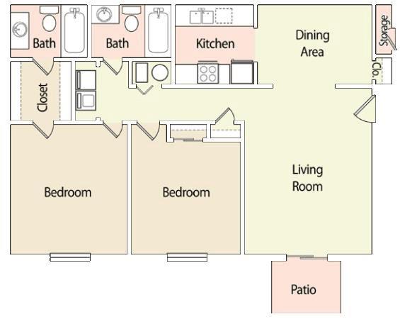 2 Bedrooms 2 Bathrooms Apartment for rent at Verandsa At Rocky Ridge in Birmingham, AL