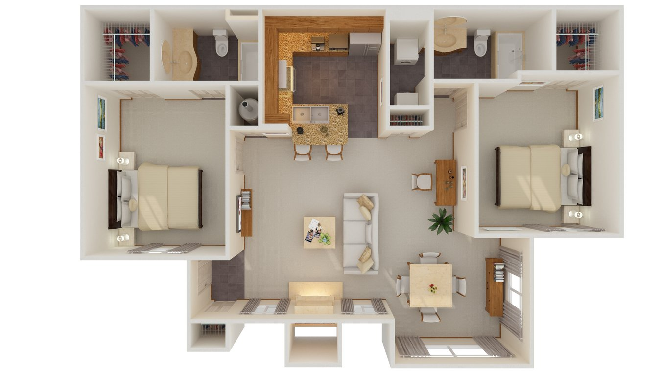 2 Bedrooms 2 Bathrooms Apartment for rent at Cascata Apartments in Tulsa, OK