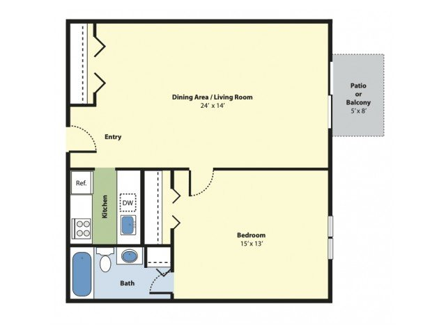 1 Bedroom 1 Bathroom Apartment for rent at Princeton Green Apartments in Marlborough, MA