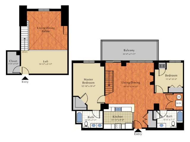 2 Bedrooms 2 Bathrooms Apartment for rent at Grandview Apartments in Lowell, MA