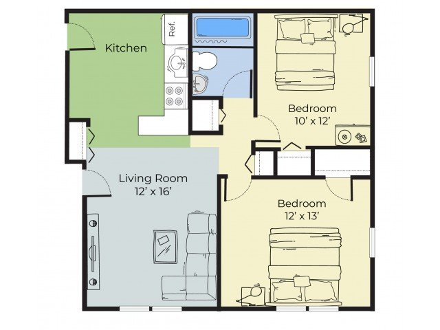 2 Bedrooms 1 Bathroom Apartment for rent at Princeton Westwood in Keene, NH