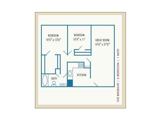 2 Bedrooms 1 Bathroom Apartment for rent at Princeton Belvidere in Lowell, MA