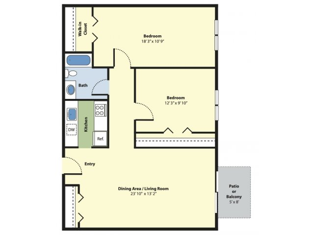 2 Bedrooms 1 Bathroom Apartment for rent at Princeton Green Apartments in Marlborough, MA