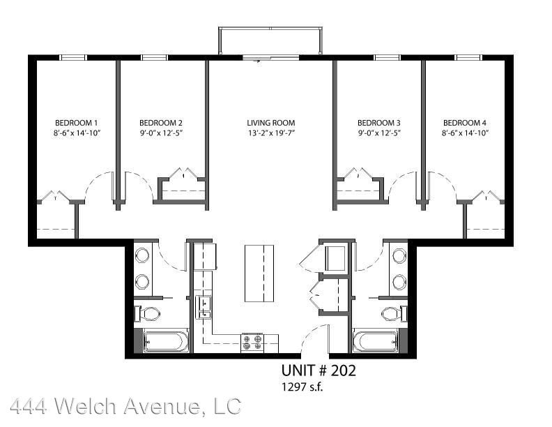 4 Bedrooms 2 Bathrooms Apartment for rent at 444 Welch Avenue in Ames, IA