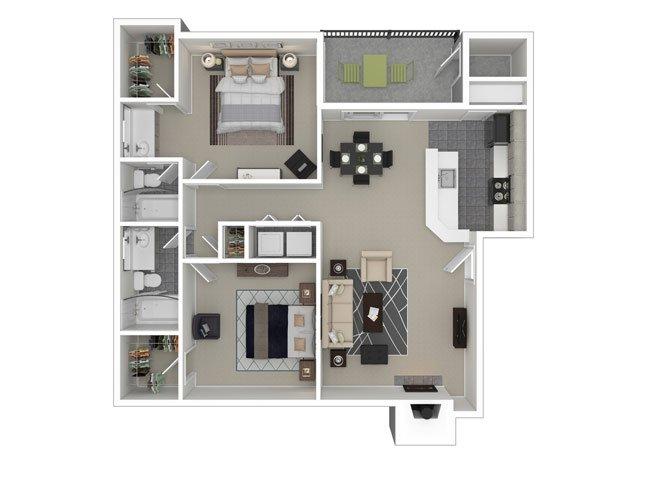 2 Bedrooms 2 Bathrooms Apartment for rent at Ironhorse Flats Apartments in Austin, TX