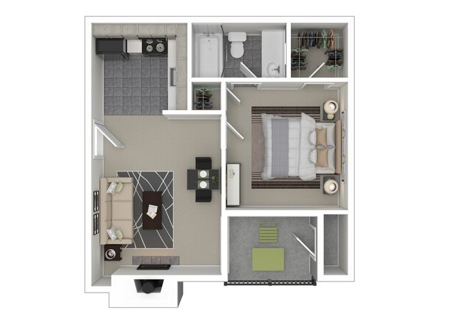 1 Bedroom 1 Bathroom Apartment for rent at Ironhorse Flats Apartments in Austin, TX