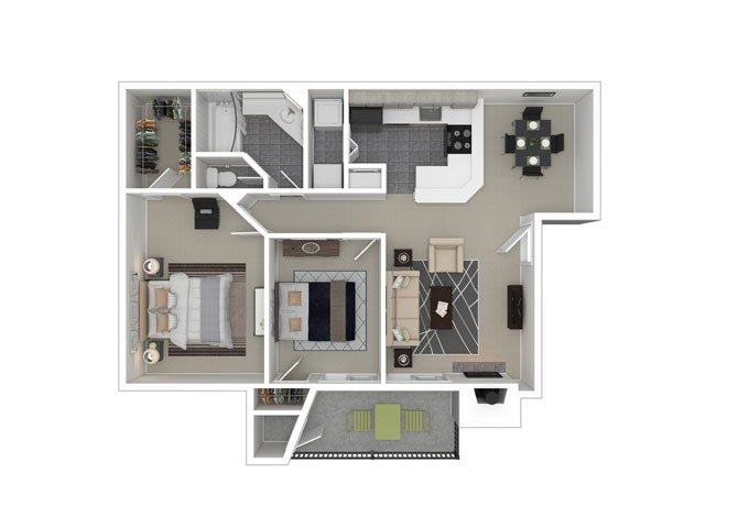 2 Bedrooms 1 Bathroom Apartment for rent at Ironhorse Flats Apartments in Austin, TX