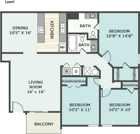 3 Bedrooms 2 Bathrooms Apartment for rent at The Desoto in Horn Lake, MS