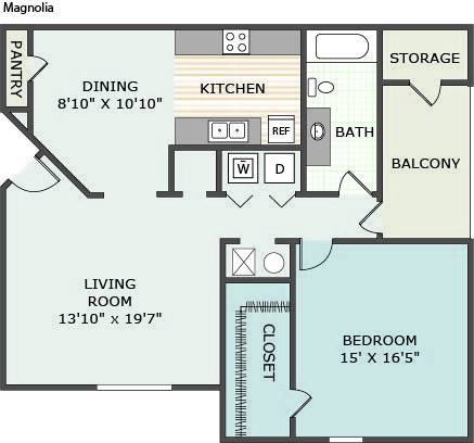 1 Bedroom 1 Bathroom Apartment for rent at The Desoto in Horn Lake, MS