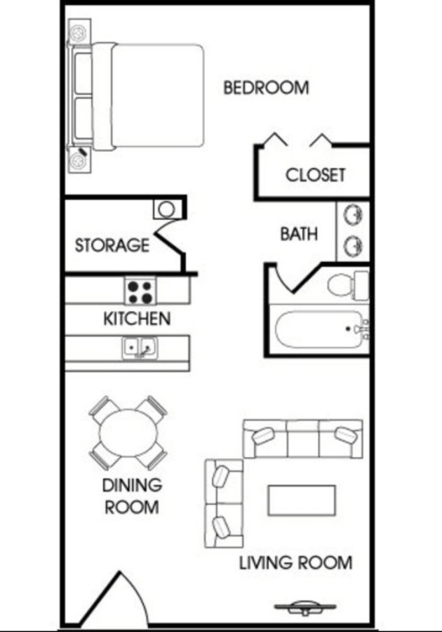 1 Bedroom 1 Bathroom Apartment for rent at Aspen Leaf in Flagstaff, AZ