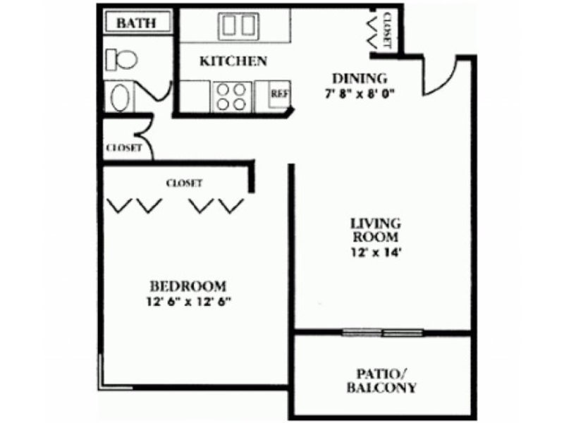 1 Bedroom 1 Bathroom Apartment for rent at Pinecliff Village Apartments in Flagstaff, AZ