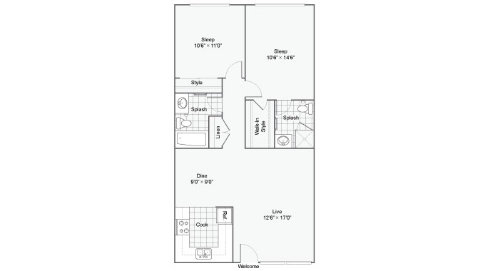 2 Bedrooms 2 Bathrooms Apartment for rent at The Atherton in Chula Vista, CA