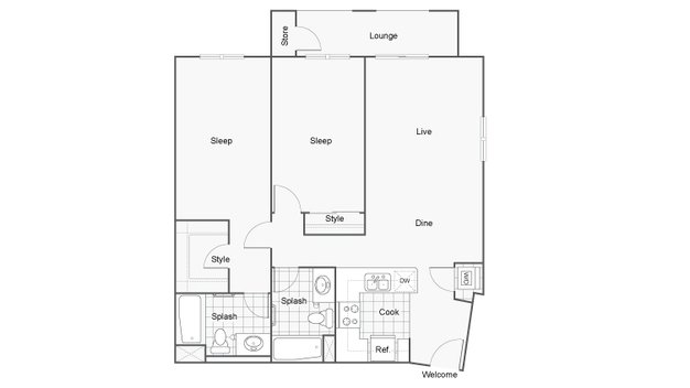 2 Bedrooms 2 Bathrooms Apartment for rent at Arrive Mission Valley in San Diego, CA