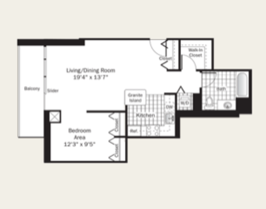 1 Bedroom 1 Bathroom Apartment for rent at Grand Plaza in Chicago, IL
