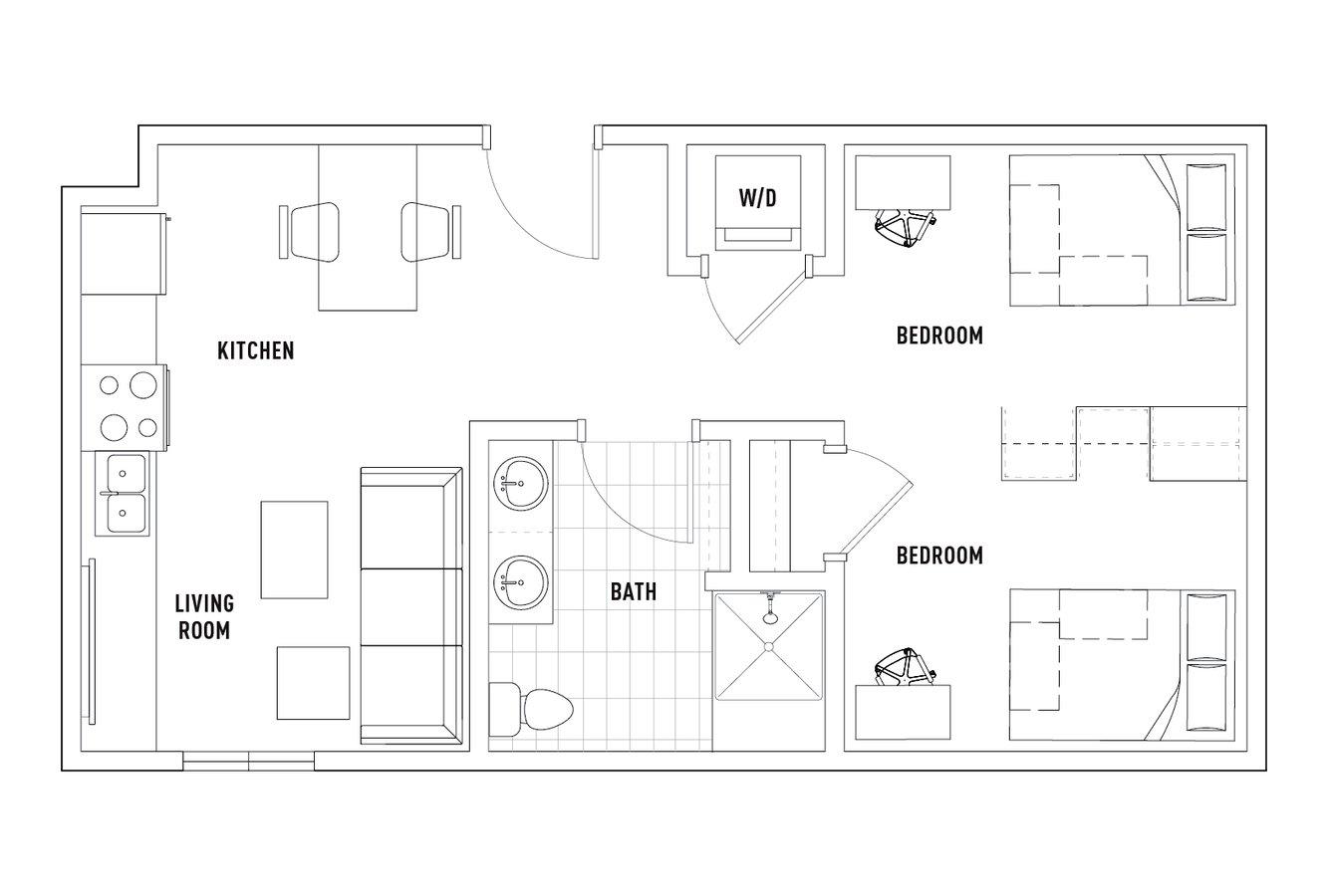 Studio 1 Bathroom Apartment for rent at Campus Edge On Pierce in West Lafayette, IN