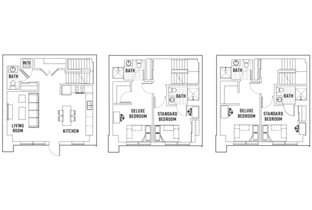 4 Bedrooms 4+ Bathrooms Apartment for rent at The Hub in West Lafayette, IN
