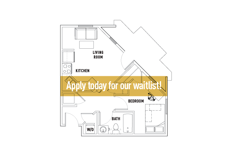 1 Bedroom 1 Bathroom Apartment for rent at Chauncey Square in West Lafayette, IN