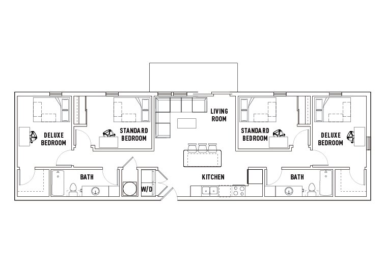 4 Bedrooms 2 Bathrooms Apartment for rent at Chauncey Square in West Lafayette, IN