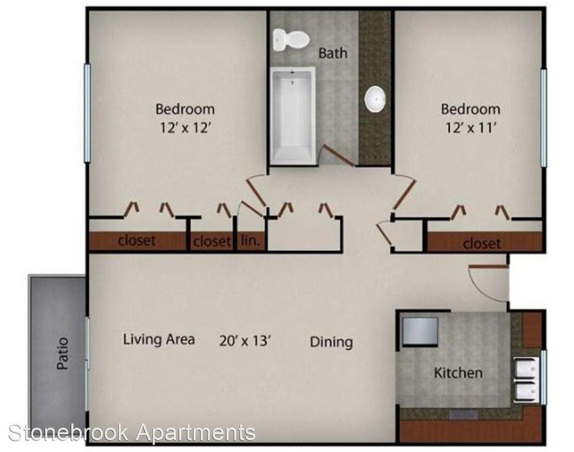 2 Bedrooms 1 Bathroom Apartment for rent at Stonebrook Apartments in Memphis, TN