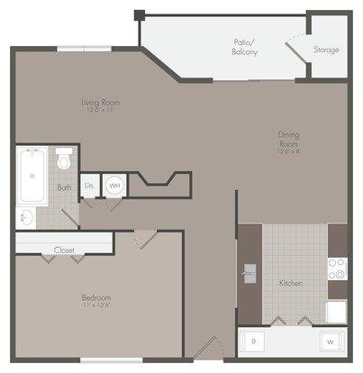 1 Bedroom 1 Bathroom Apartment for rent at Mallard Creek in Charlotte, NC