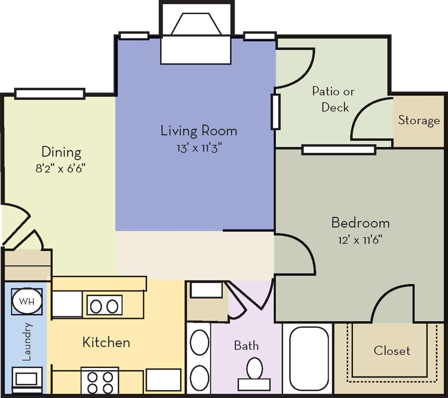 1 Bedroom 1 Bathroom Apartment for rent at Providence Court in Charlotte, NC