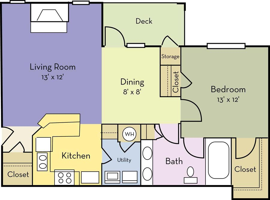 1 Bedroom 1 Bathroom Apartment for rent at Providence Court Apartments in Charlotte, NC