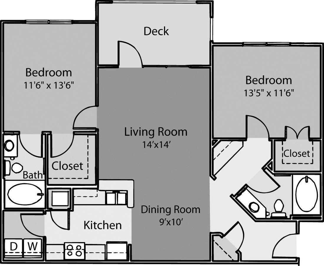 2 Bedrooms 2 Bathrooms Apartment for rent at ARIUM Weston in Morrisville, NC