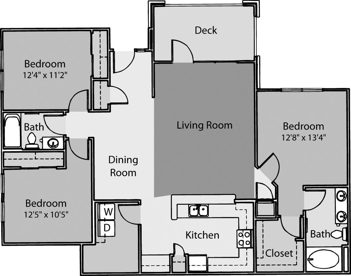 3 Bedrooms 2 Bathrooms Apartment for rent at ARIUM Weston in Morrisville, NC