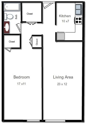 1 Bedroom 1 Bathroom Apartment for rent at Amberson Plaza Apartments in Pittsburgh, PA
