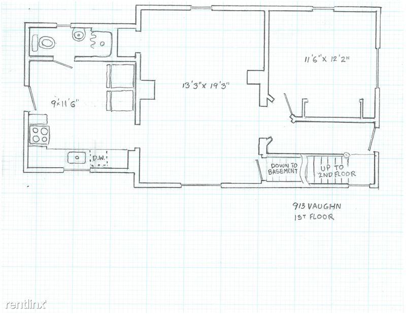 Studio 1 Bathroom House for rent at 913 Vaughn St. in Ann Arbor, MI