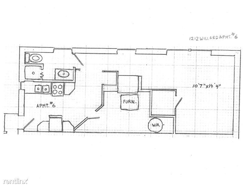 Studio 1 Bathroom House for rent at 1212 Willard St. in Ann Arbor, MI