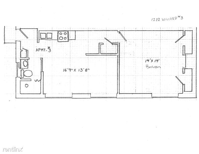 1 Bedroom 1 Bathroom House for rent at 1212 Willard St. in Ann Arbor, MI