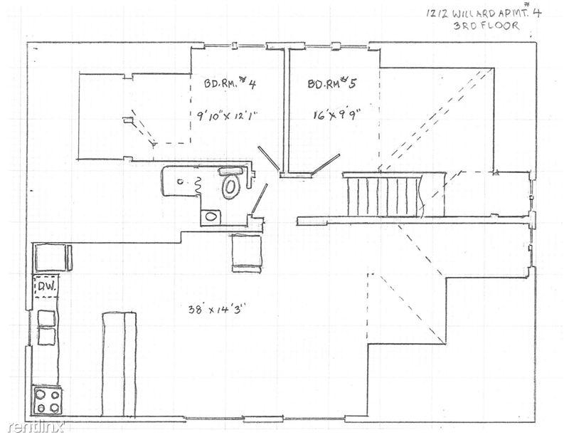 5 Bedrooms 2 Bathrooms House for rent at 1212 Willard St. in Ann Arbor, MI