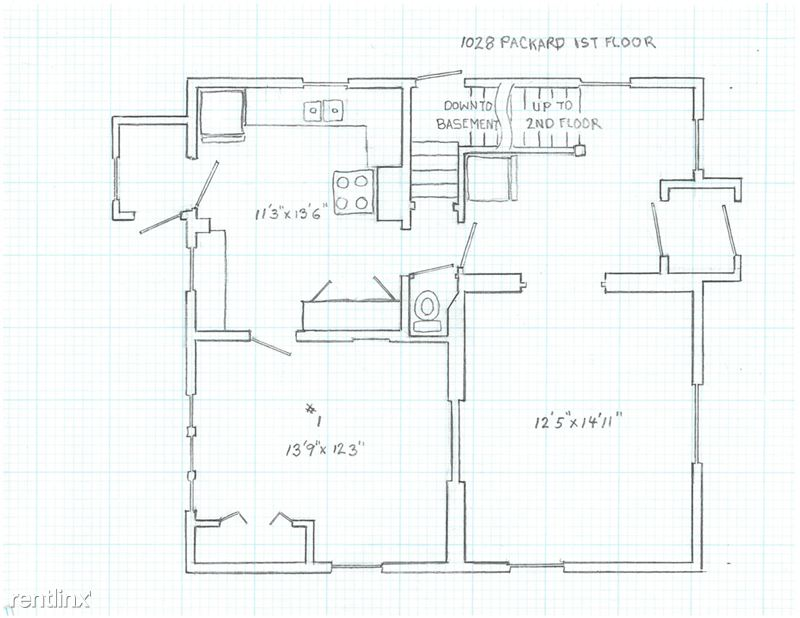 6 Bedrooms 2 Bathrooms House for rent at 1028 Packard St. in Ann Arbor, MI
