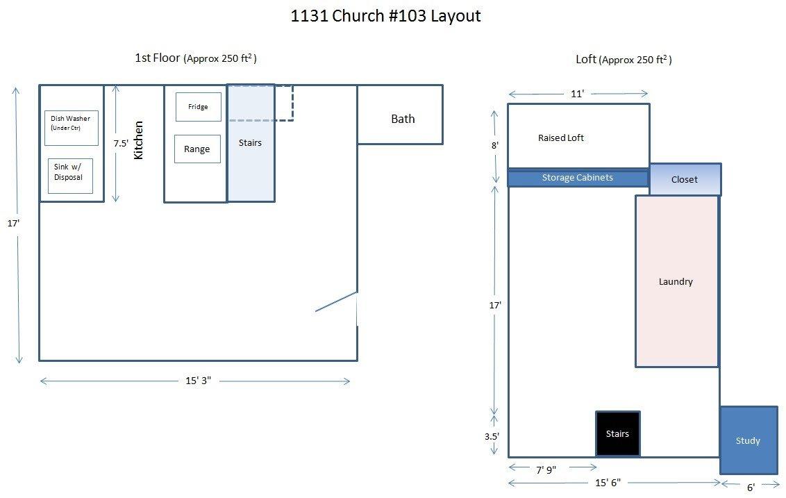 Studio 1 Bathroom Apartment for rent at 1131 Church St. in Ann Arbor, MI