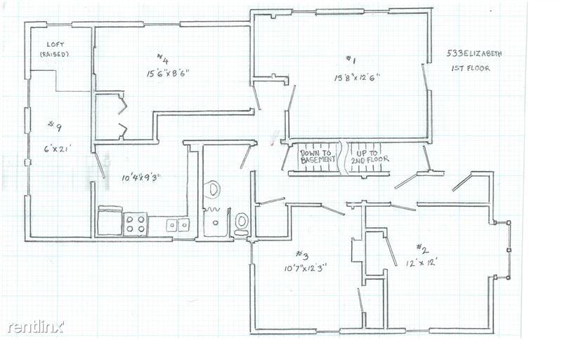 1 Bedroom 1 Bathroom House for rent at 533 Elizabeth St. in Ann Arbor, MI