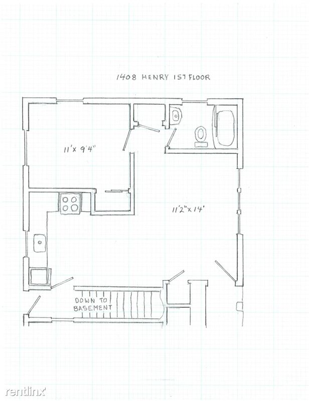 1 Bedroom 1 Bathroom Apartment for rent at 1408 Henry St. in Ann Arbor, MI